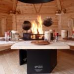 Grillhütte mit Tisch