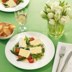 Käse und Spargel