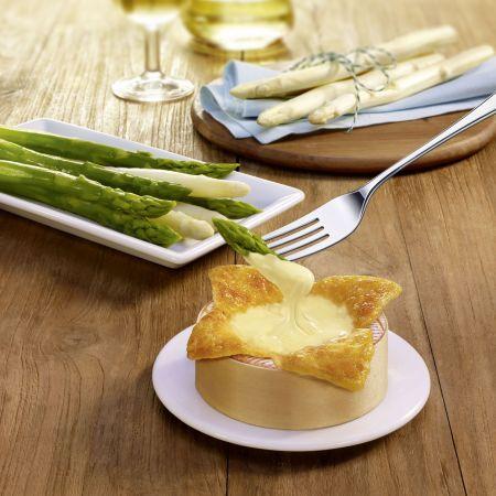 Spargel und Käse